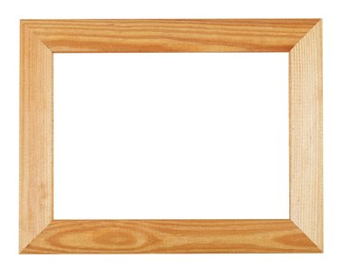 wide simple wooden picture frame