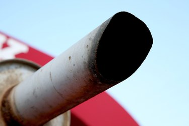 Close-up of exhaust pipe