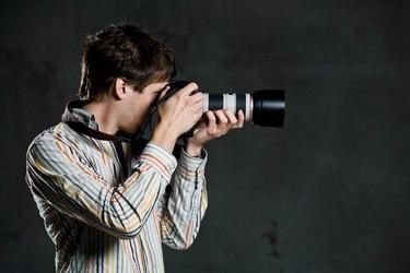 Studio shot of photographer
