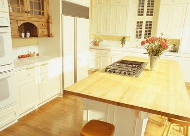View of empty modern kitchen