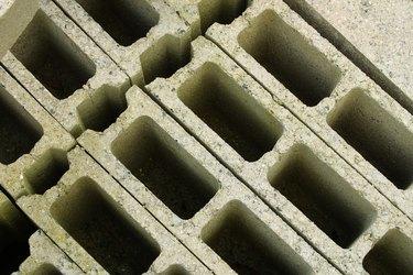 Close-up of cinderblocks