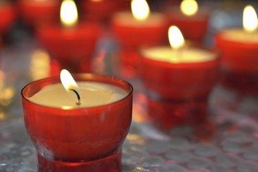 firing candle in catholic church