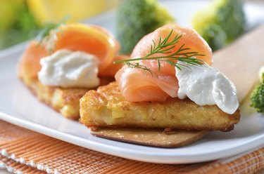 Potato patties with salmon