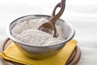 White flour in bowl