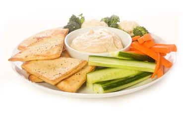 Pita chip and Vegetable Platter