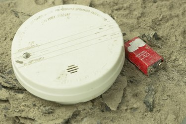 Smoke detector in ashes