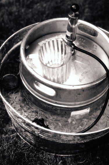 Beer Keg and Pitcher