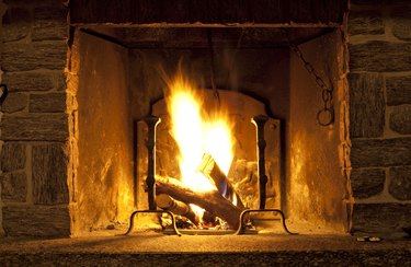 Fireplace flames