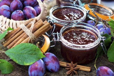 Plum Jam in jar