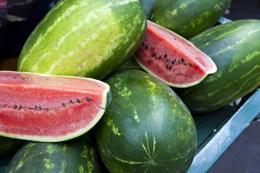 Close up view of watermelons