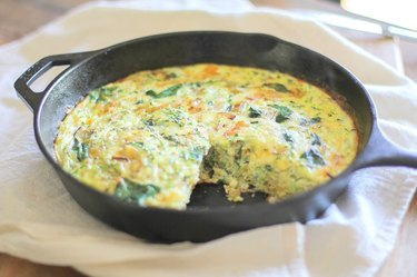 Let the frittata cool 10 minutes before cutting.