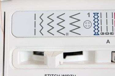 machine set to a zig zag stitch