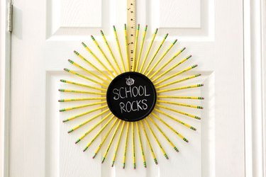 Pencil Wreath for Back to School