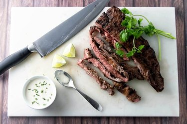 How to Grill Skirt Steak Topped With a Spicy Chile Sauce