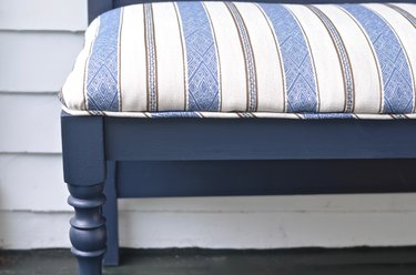 attach upholstered seat to bench frame