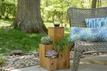 Planter Box and Side Table Combo