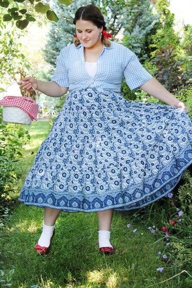 crinoline layered under a full skirt