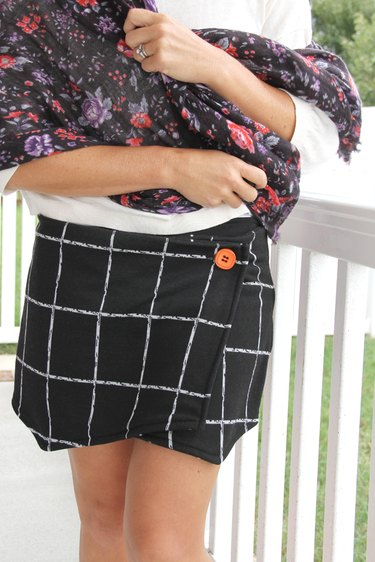 Turn any pair of shorts into a cute asymmetrical wrap skort