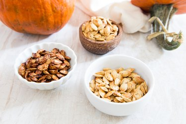 Roasted pumpkin seeds - 3 ways