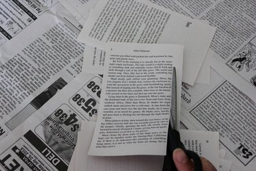 Trim the margins off from the book pages.