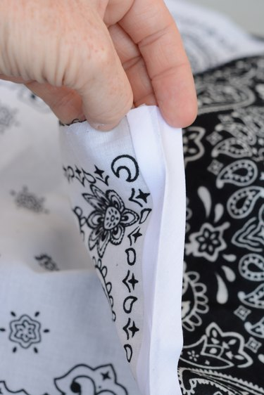 fold the bias tape over to the other side of the fabric
