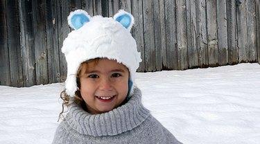 Finished Faux Fur Kids Hat