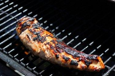 Pork tenderloin with grill marks