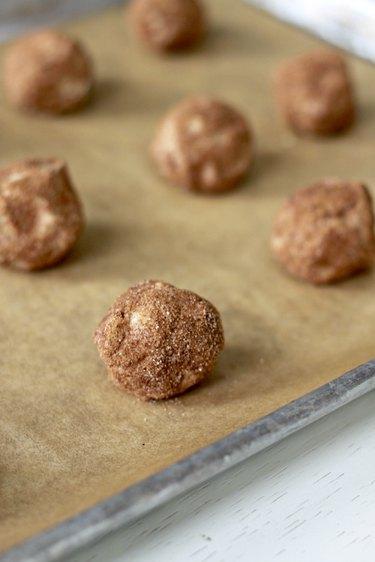 dough balls on sheet