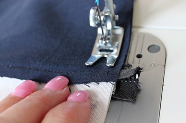 sew all 4 sides with a 1/2 inch seam