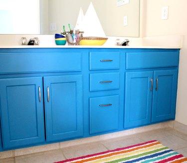 How to DIY Paint Your Bathroom Vanity