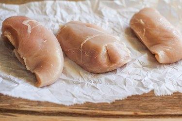 Three boneless skinless chicken breasts