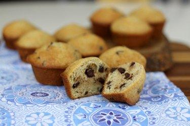 Fresh chocolate chip muffins.