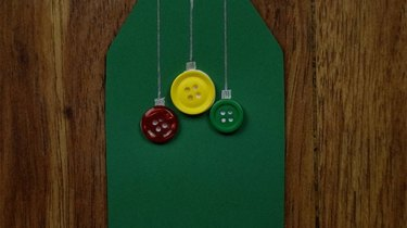 Button Christmas ornament gift tags.