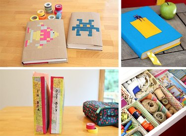 Collage of back-to-school crafts