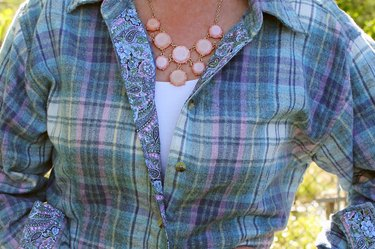 button-down shirt with decorative trim