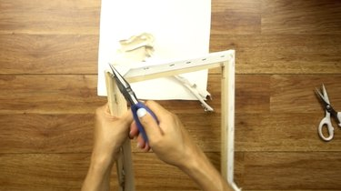 Removing canvas from stretcher frame to make DIY simple frame loom