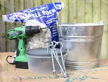 DIY Christmas tree stand supplies
