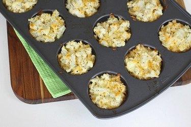 cheesy cauliflower bites
