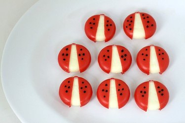 little ladybugs made of cheese