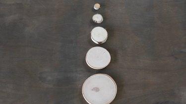Varying sizes of log slices