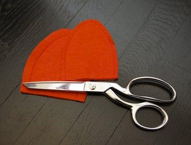 Sew ears, press and trim seam allowances.
