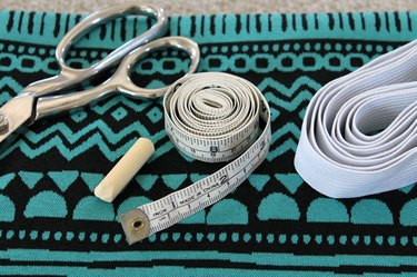 sewing supplies for a pencil skirt