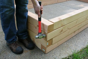 Tapping wood in place