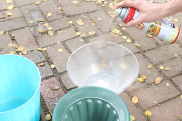 Use cooking spray on plastic molds