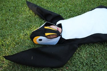 A few yards of felt, some wire and a sewing machine is all you need to make this penguin suit.