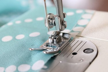sew a half inch from the edge