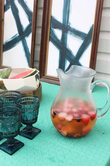 Frozen fruit make great ice cubes in summer beverages.