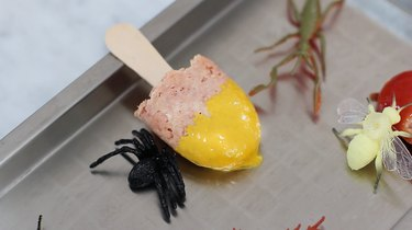 Frozen tongue popsicle dipped in mustard