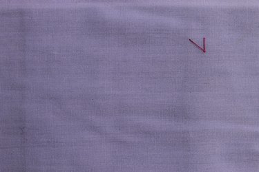 Stitching a diagonal line from the entry point for zig zag stitch