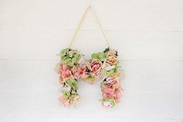 DIY Silk Floral Monogram